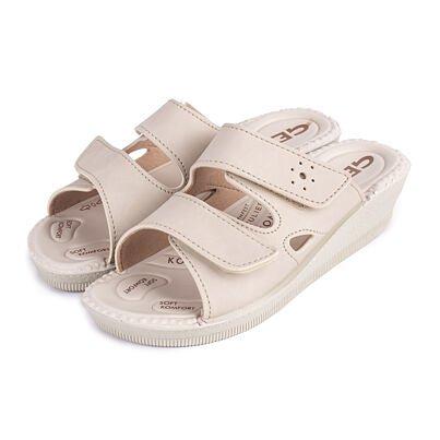 Papuci cu gel, cu platformă pentru femei Milena - bej
