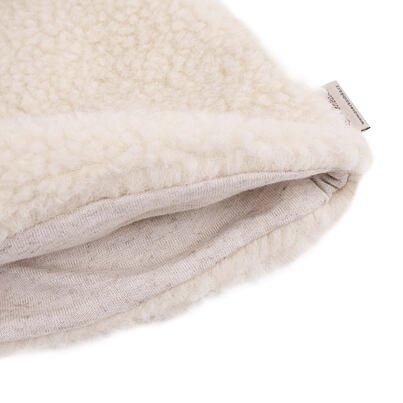 Čiapka z ovčej vlny s podšívkou  prírodná