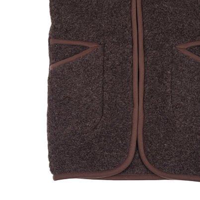 Hosszított mellény birka gyapjúból - sötétbarna