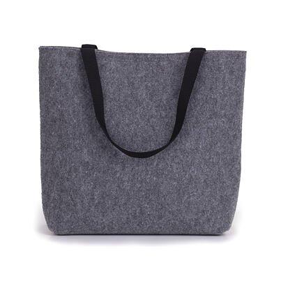 Filcová taška s krátkymi ušami sivá