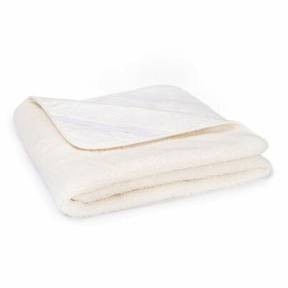 Wool mattress topper with lining - Natural