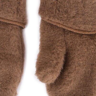 Egyujjas kesztyű birka gyapjúból - barna