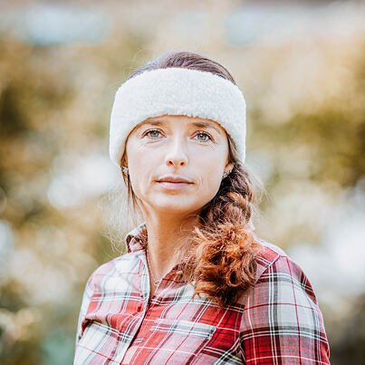 Sheep wool headband -  Natural