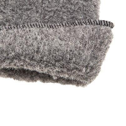 Egyujjas kesztyű birka gyapjúból - sötétszürke