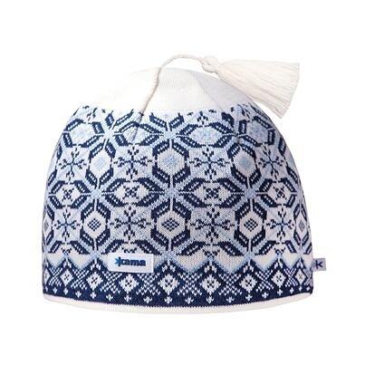 Căciulă tricotată Merino Kama A57 - Alb natural