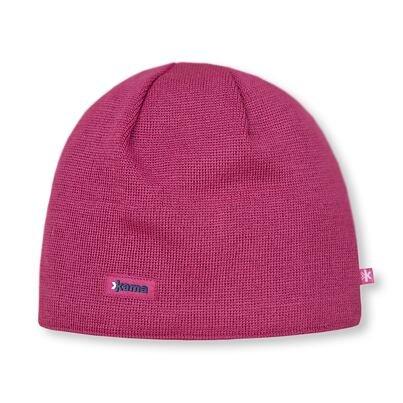 Pletená čiapka Merino Kama AW19 ružová