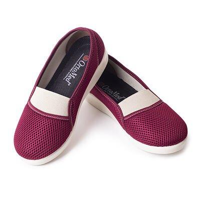 Dámske komfortné baleríny  červená