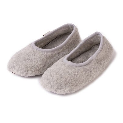 Wool ballerinas -  Silver