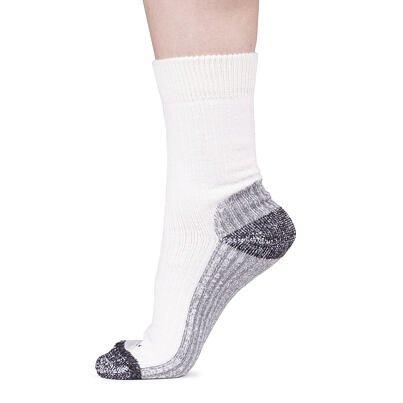Ovčí ponožky Merino se zdravotním lemem 3 páry krémová