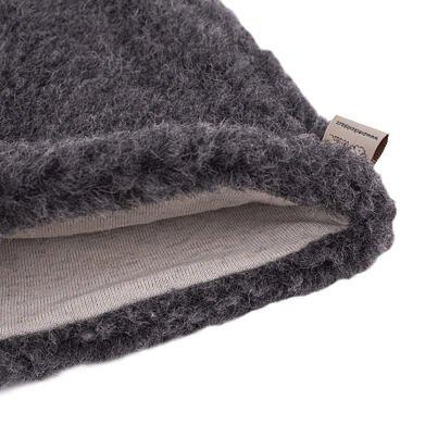 Čiapka z ovčej vlny s podšívkou tmavo sivá Tmavosivá