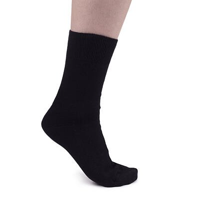 Bavlnené ponožky s voľným lemom  čierna