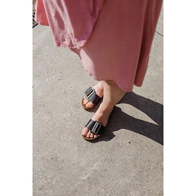 Women's low-heel clogs -  Black