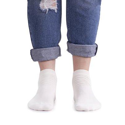 Summer ankle socks Merino 2 pairs -  White