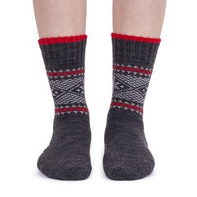 Ovčie ponožky Merino vločka  tmavosivá