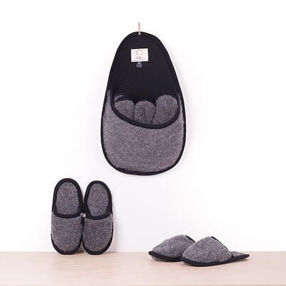 Set of slippers for guests -  Dark gray