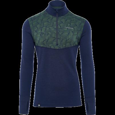 Men's functional shirt merino ZIP XTREME Thermowave -  Blue