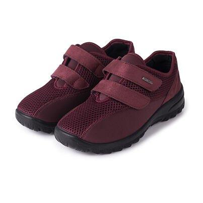 Női légáteresztő ortopéd tornacipő tépőzárral - piros