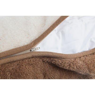 Párna birka gyapjúból - barna - 40x70
