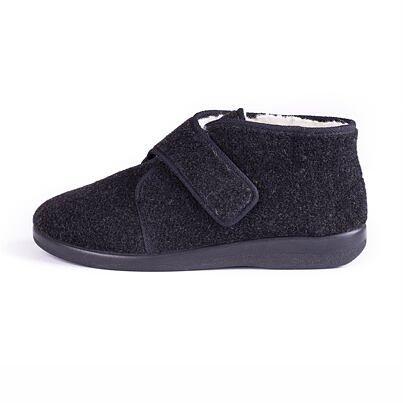 Men's slippers with Velcro fastener black