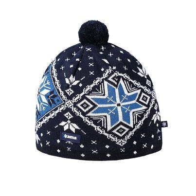 Pletená čiapka Merino Kama A138 Čierna