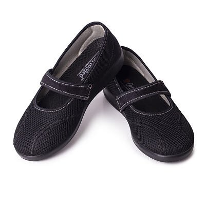 Dámske komfortné baleríny na suchý zips  čierna