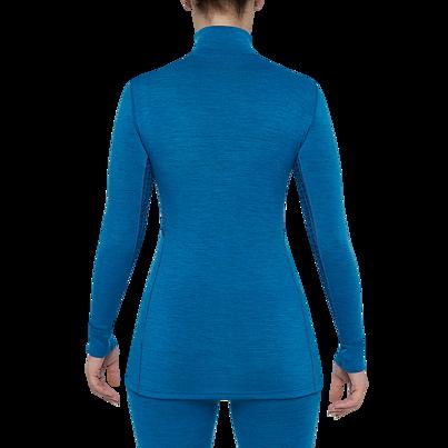 Dámské funkční triko zip merino XTREME Thermowave modrá