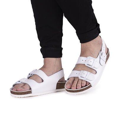 "Anatomical cork sandals ""Max"" - White"