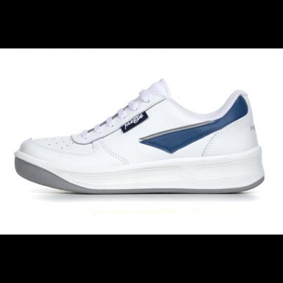 Bőr tornacipő Prestige - fehér