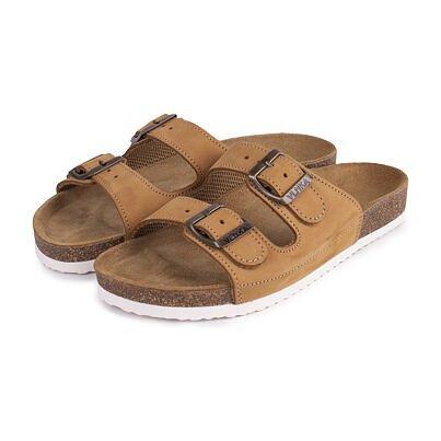 Păpuci ortopedici din plută pentru bărbați Alex - bej