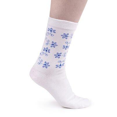 Șosete din bumbac - floare albastră