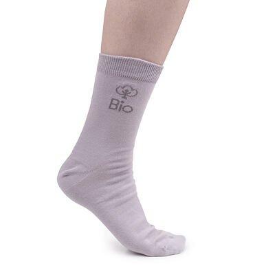 Bio bavlnené ponožky  sivá