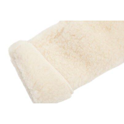 Mănuși cu un deget din lână de oaie - natural