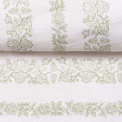 Cotton duvet cover - Green Flowers