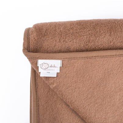 Wool 1-ply blanket - Brown
