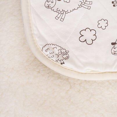 Pătură din lână de oaie cu dublu strat Vlnka - cu căptușeală