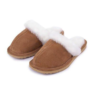 Dámske kožené papuče s ovčou vlnou Mária