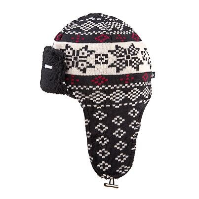 Knitted cap with earflaps merino Kama A114 -  Black