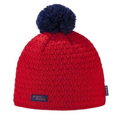 Pletená čepice merino KAMA K36 červená