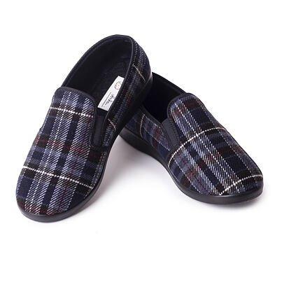 Pánske protišmykové papuče Káro