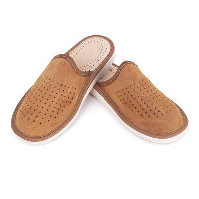 Dámske letné kožené papuče