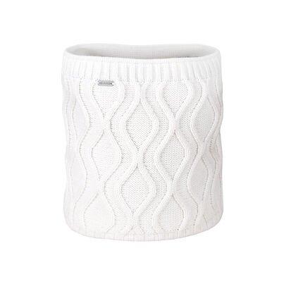Double-Sided Knitted Merino Neckwarmer KAMA S30 -  Off white