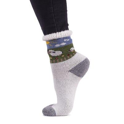 Ovčie ponožky Merino obláčik  sivá