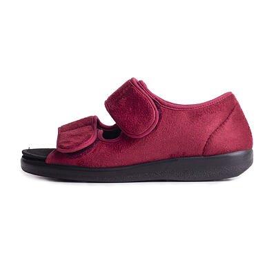 Zdravotní obvazová obuv otevřená červená