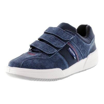 Tépőzáras bőr tornacipő Prestige Denim