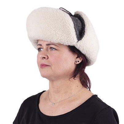 Sheep wool bomber hat - Gray  Dark gray