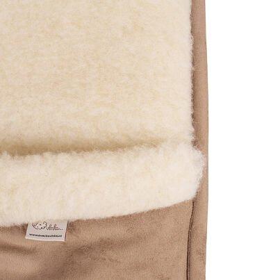 Wool foot warmer low -  Brown