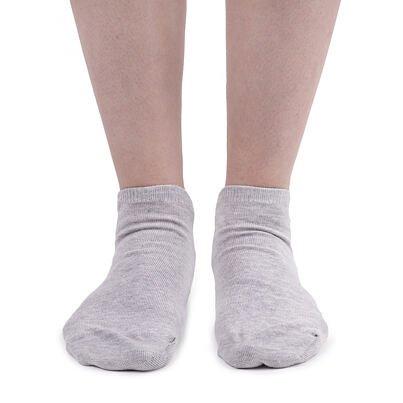 Bavlnené ponožky členkové  sivá