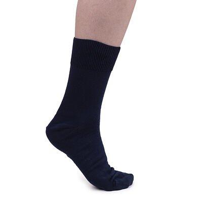 Bavlněné ponožky s volným lemem tmavě modrá
