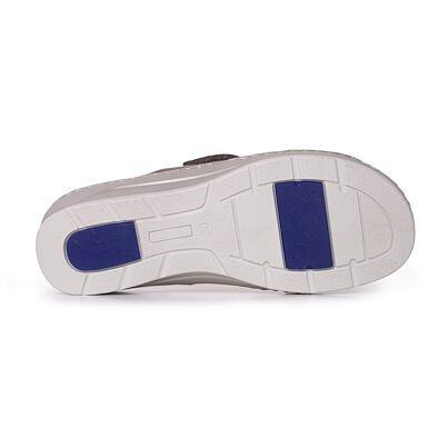Papuci din piele cu toc pentru femei Zlata - bronz