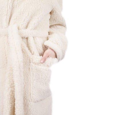 Sheep wool bathrobe -  Natural